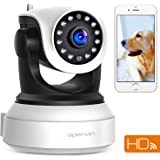 APEMAN 720P WiFi IP Camera Wireless Home Security Camera with Night Vision Surveillance CCTV Camera Baby Pet Monitor Support 128GB Micro SD Card Motion Detection Pan/Tilt/Zoom