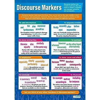 Amazon.com: Discourse Markers Poster English Language Arts