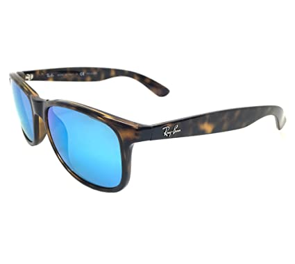 c9e8e6cd954 Ray Ban Andy RB4202 710 9R Havana  Green Blue Mirror 55mm Polarized  Sunglasses  Amazon.co.uk  Clothing