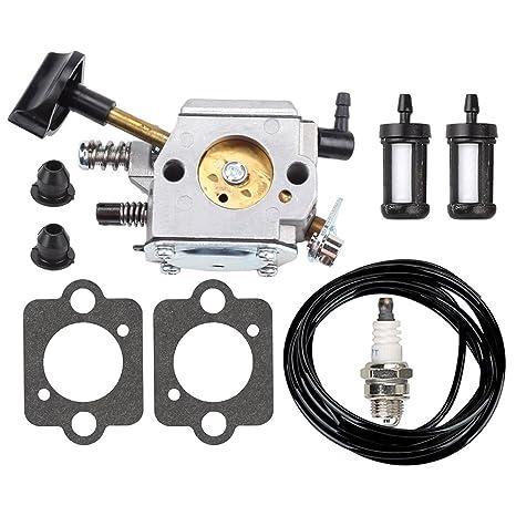 Mckin HD-4A HD-4B HD-13B Carburetor with Air Filter Tune Up Kit for STIHL SR320 SR340 SR380 SR400 SR420 BR320 BR340 BR380 BR400 BR420 Backpack Blower