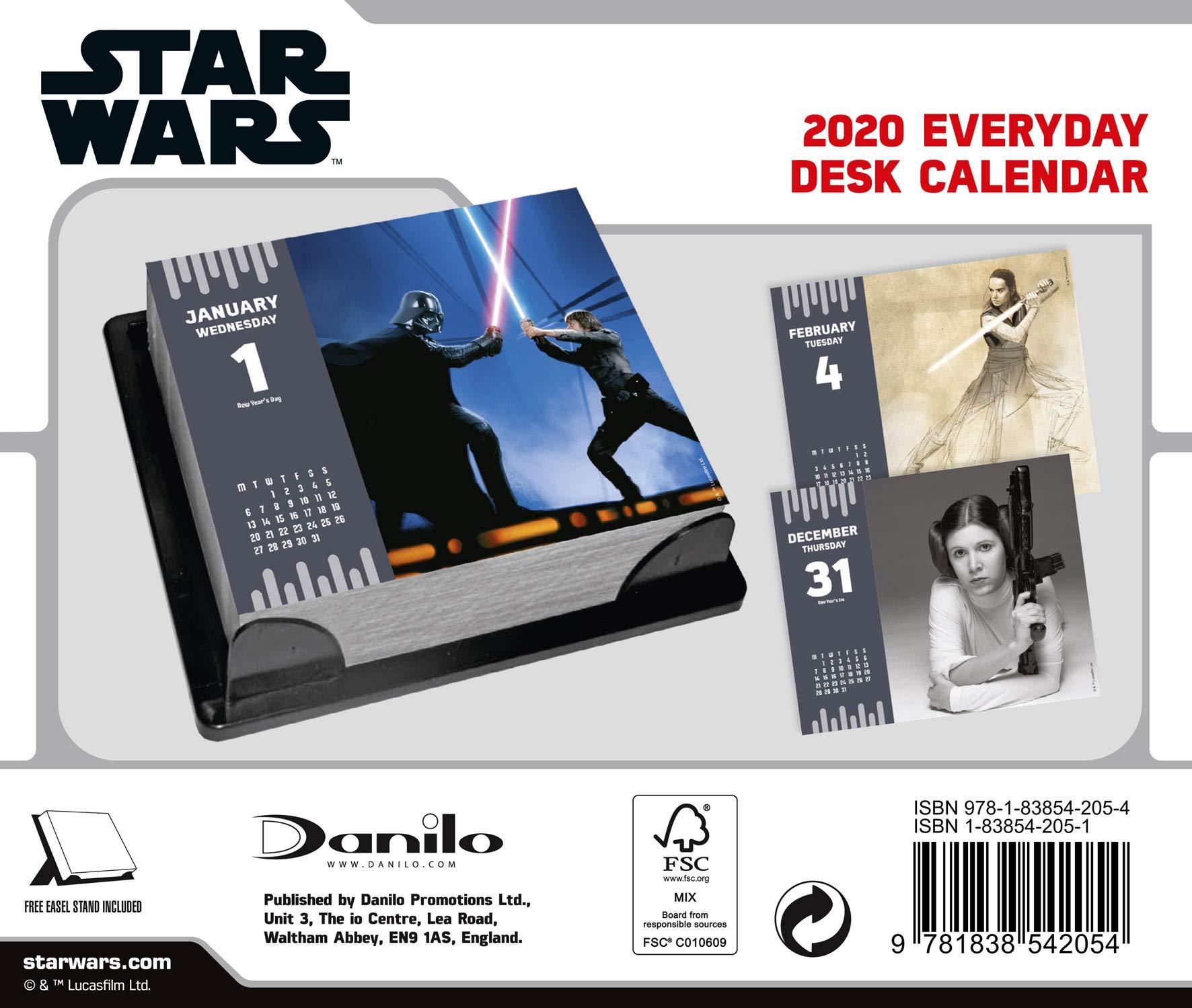 Star Wars Desk Block Calendar 2019