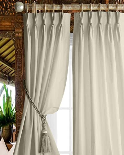 Magic Drapes Home Decor 100 Polyester Triple Pinch Pleated Blackout Window Curtain Panel Drapes and Thermal Insulation White