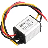 DROK Waterproof High Efficiency Car Power Converter DC12V to 6V/3A Step Down Voltage Module 9-22V to 6V Power Supply