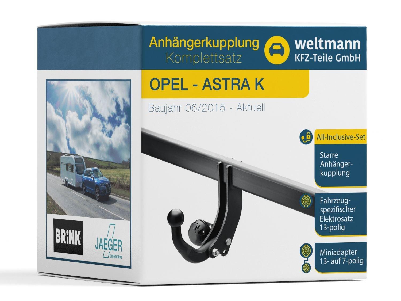 Mundo Muñeco 7b150001 Opel Astra K - Starre Remolque Incluye fahrzeugspezifischem 13 pines Juego eléctrico: Amazon.es: Coche y moto