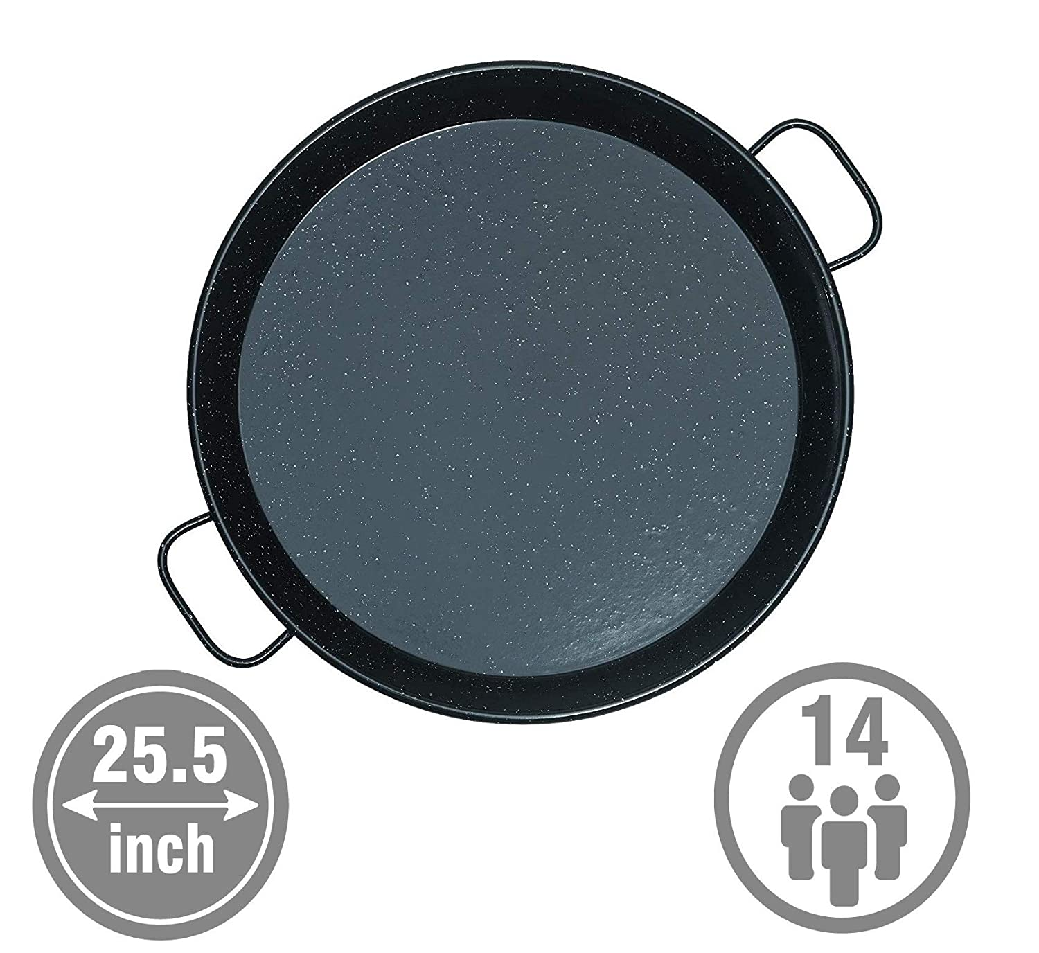 Mabel Home 25.5-inch Enamaled Steel Paella Pan, 65cm