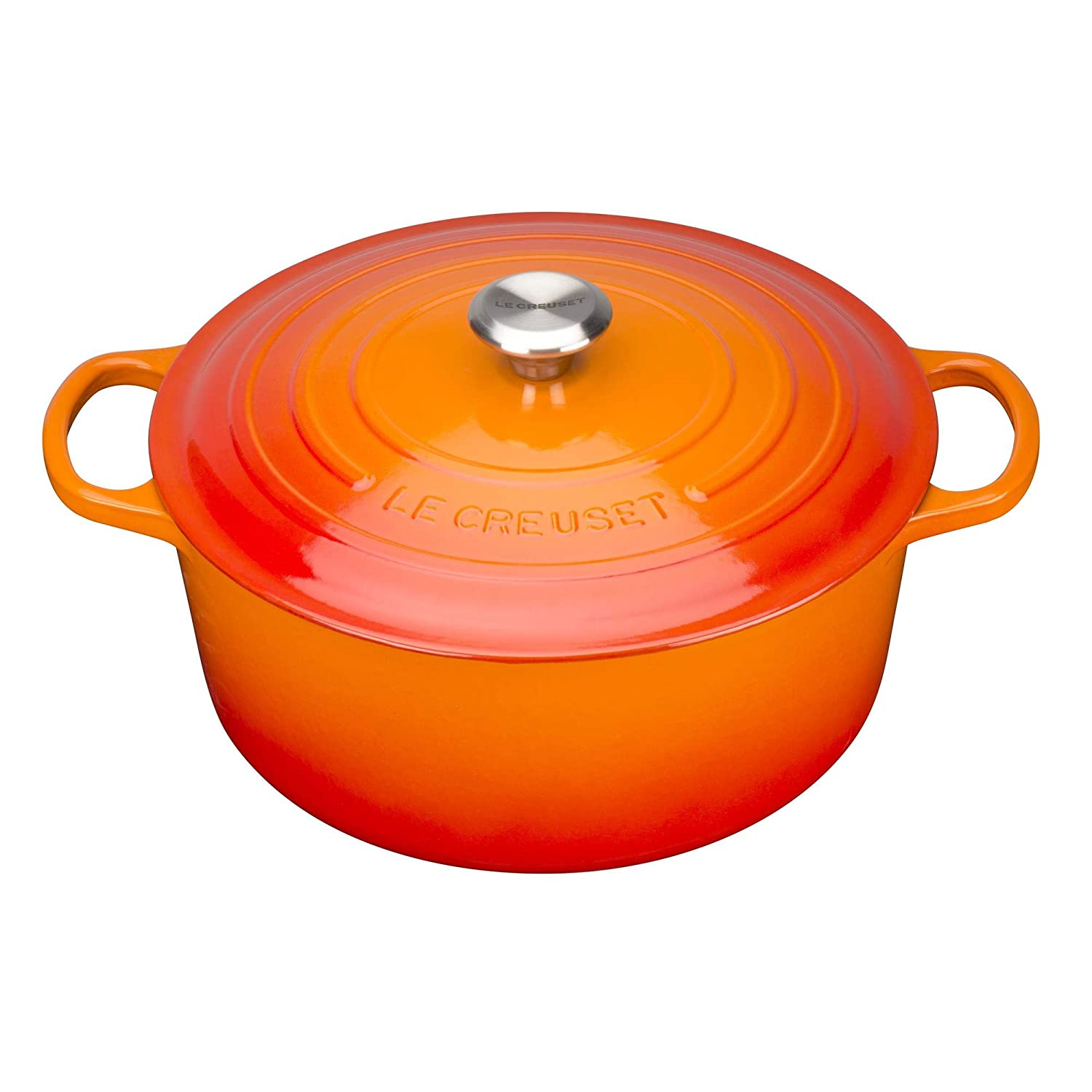 Le Creuset Signature Cast Iron Round Casserole with Cool Tool, 20 cm - Cerise