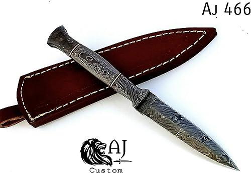 Custom Hand Forged Damascus Steel Boot Knife W Damascus Handle – AJ 466