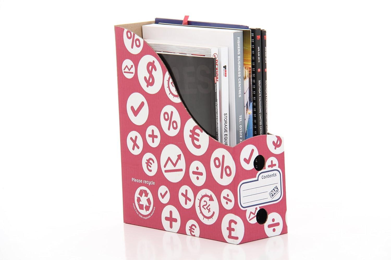 StorePAK - Archivador para documentos y revistas (10 unidades), color rojo: Amazon.es: Oficina y papelería
