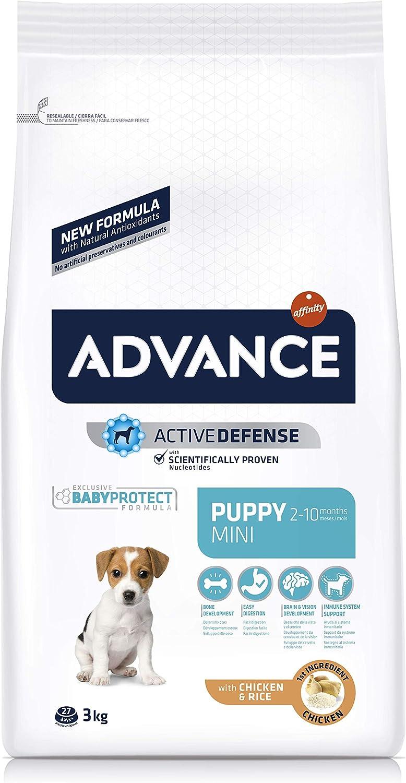 ADVANCE Mini Puppy - Pienso Para Cachorros De Razas Pequeñas - 3 Kg