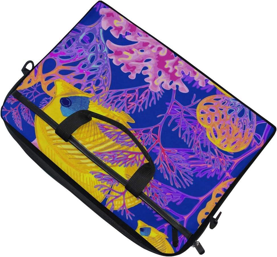 College Students Business People Offic Laptop Bag Seabed Exotic Fish Corals 15-15.4 Inch Laptop Case Briefcase Messenger Shoulder Bag for Men Women