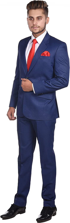 Ali Collection Men's Slim Fit Formal Two Piece Suit
