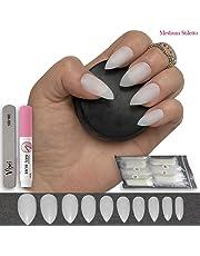 600 piezas de uñas 10 tamaños – falso uñas Consejos tamaño mediano, Natural opaco acrílico