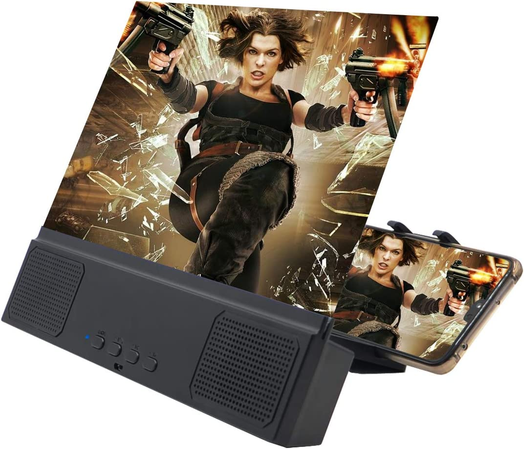SAMTITY HD Smartphone Lupa de 14 Pulgadas Pel/ícula Video E-Book Ampliador Tel/éfono Soporte Soporte Soporte Pantalla del tel/éfono m/óvil Lupa Amplificador de Pantalla 3D