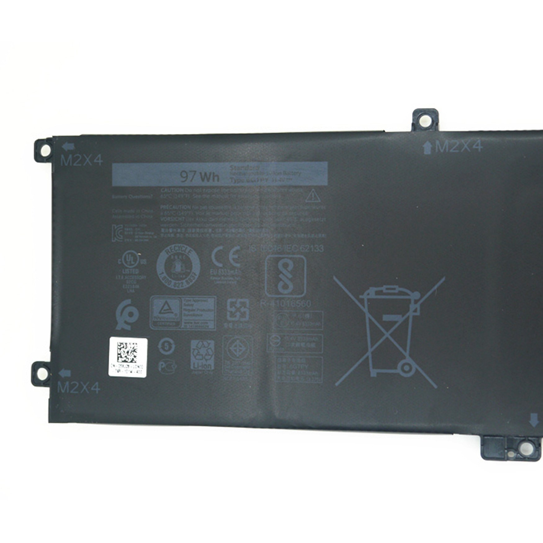 Dentsing 11.4V 97Wh 6GTPY battery for DELL XPS15 9550 gpm03 by Dentsing (Image #2)
