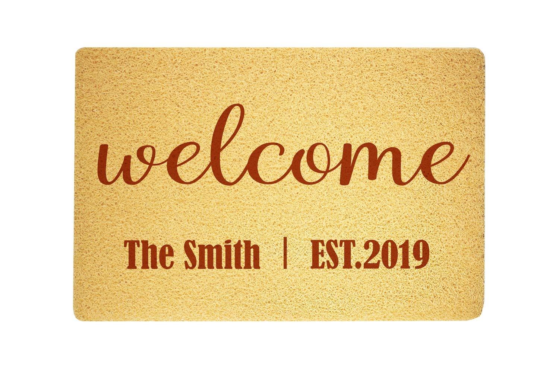 com welcome personalized custom design door mat sweet home
