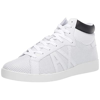 A|X Armani Exchange Men's High Top Lace Up Sneaker,white,11 M US: Shoes