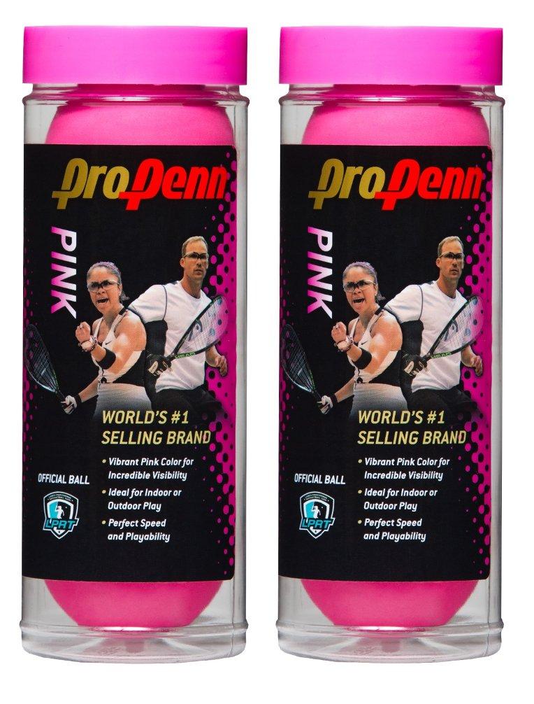HEAD ProPenn Pink Racquetballs - 3 ball can (2) by Penn (Image #1)
