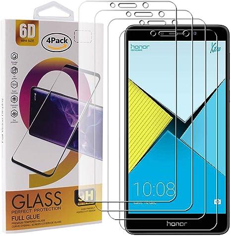 Guran 4 Paquete Cristal Templado Protector de Pantalla para Honor 6X / 6X Pro Smartphone 9H Dureza Anti-Ara?azos Alta Definicion Transparente Película: Amazon.es: Electrónica