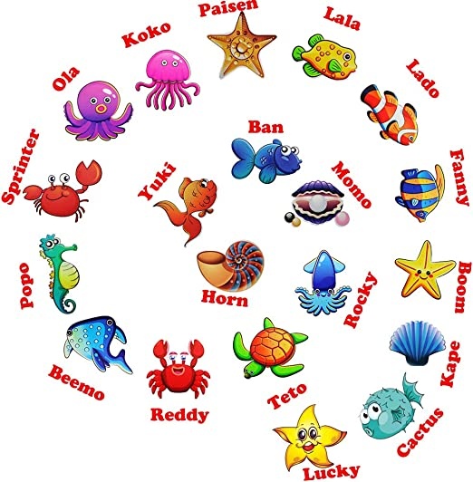 Adhesive Shower Safety Appliques for Kids Bath Tub Under The Sea Decal Treads Hangnuo 20 Set Baby Bathtub Sea Creatures Stickers