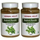 Herbal Hills Brahmi Powder - 100g Each (Pack of 2) - Bottle