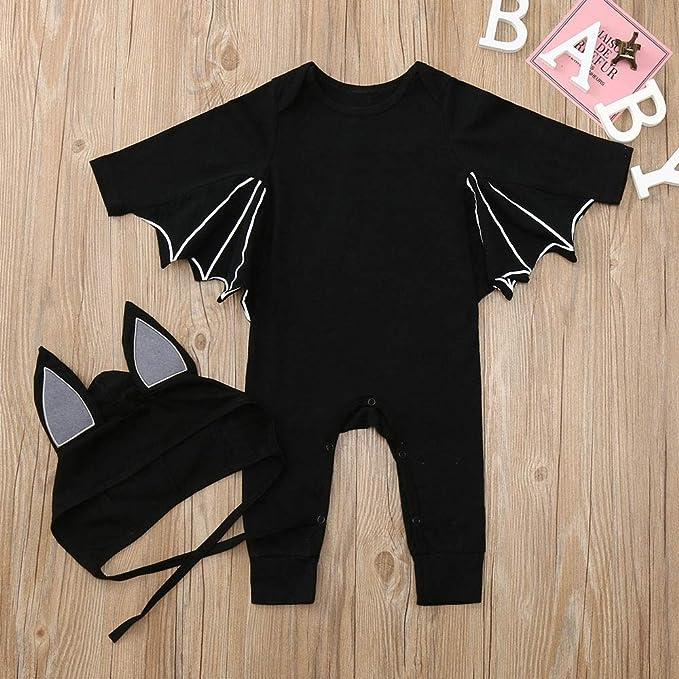 320139b54 LHHJ Halloween bebé siamés Ropa algodón otoño e Invierno Modelos Batman  Manga Larga Hombres y Mujeres Ropa de bebé 0-1 años Negro 100: Amazon.es:  Ropa y ...