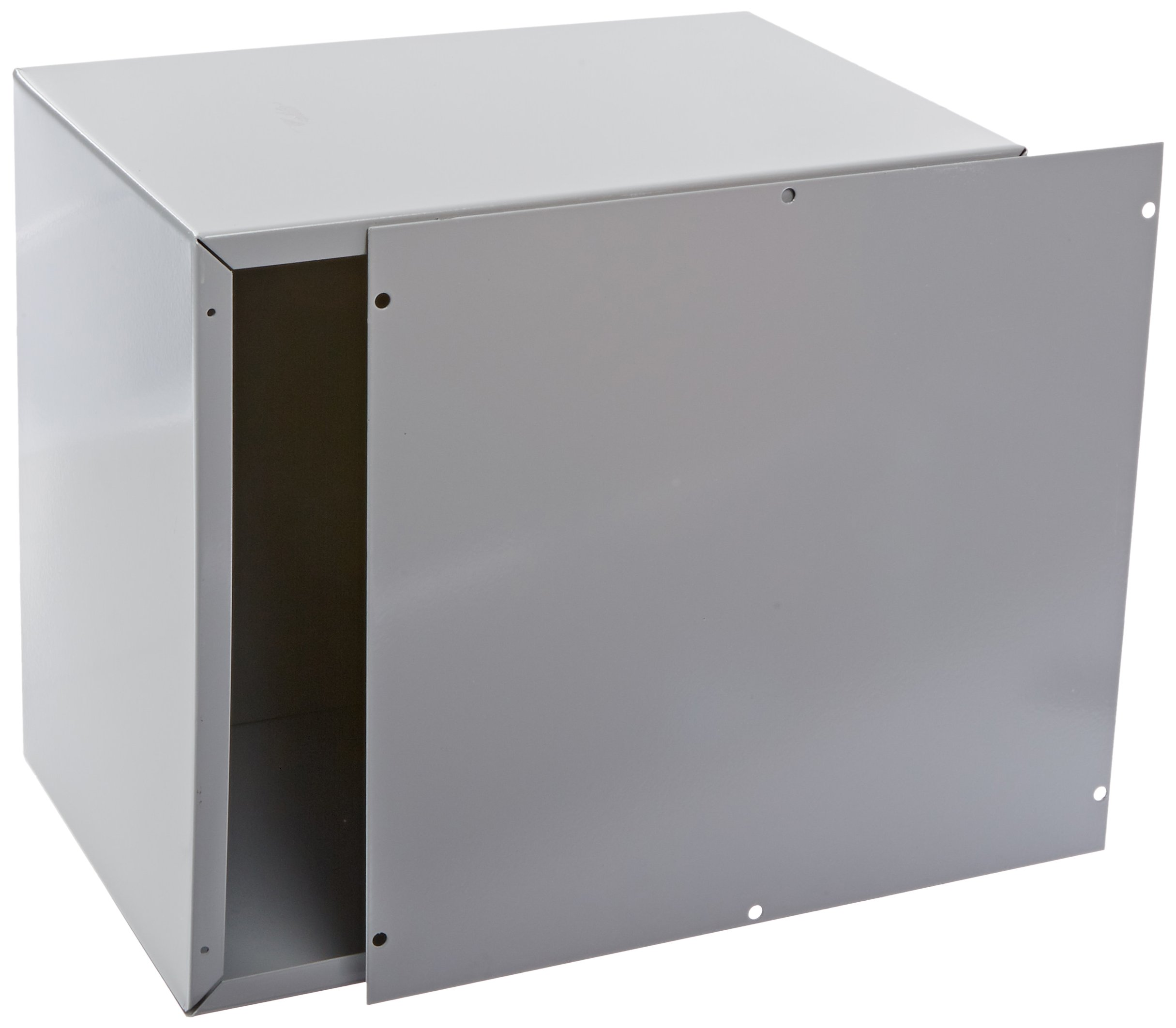 BUD Industries CU-881 Steel Utility Cabinet, 11'' Width x 12'' Height x 8'' Depth, Natural Finish
