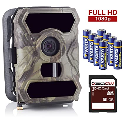 SecaCam HomeVista Full HD 100 Grados Gran Angular Cámara de vigilancia y cámara de Caza -