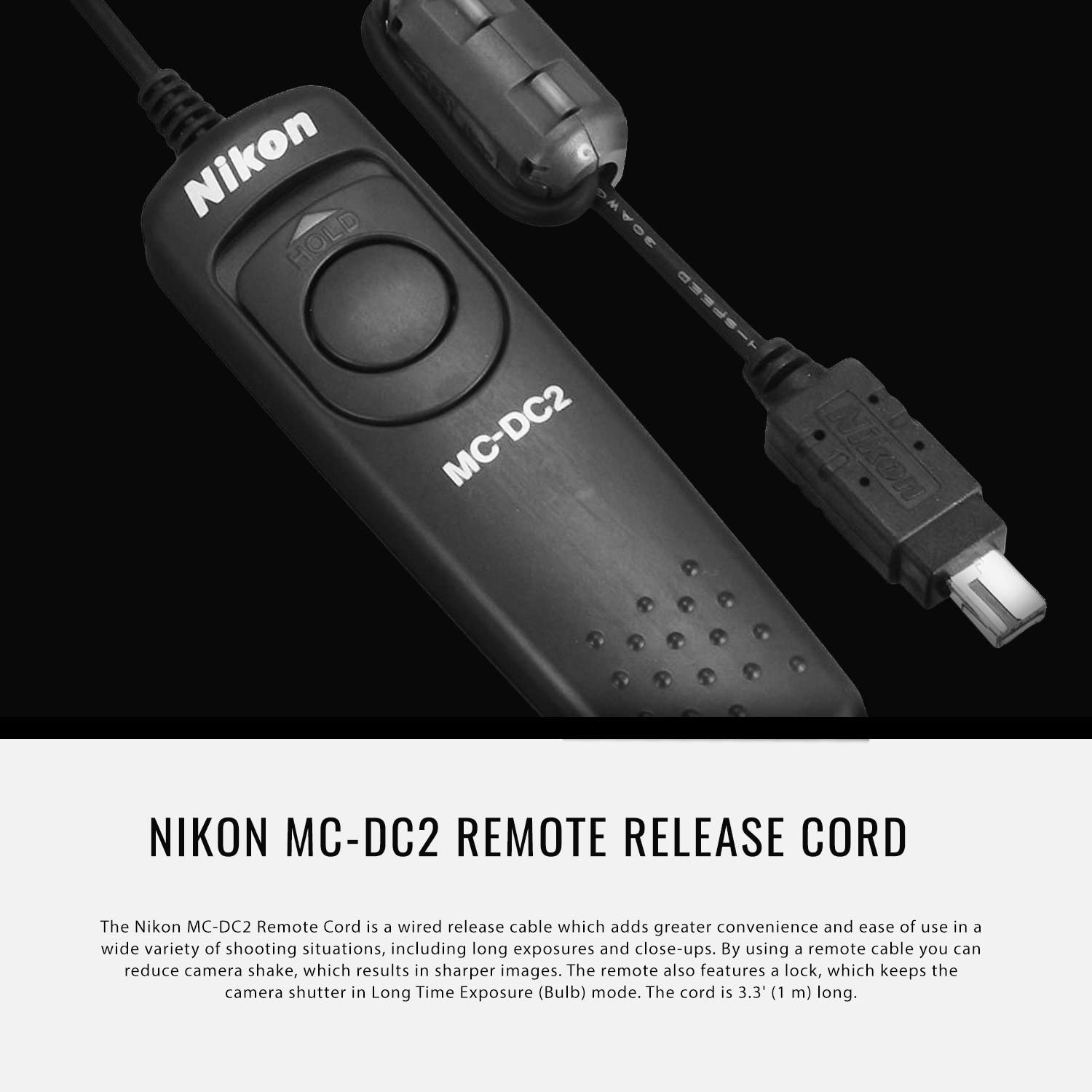 Nikon MC-DC2 Remote Release Cord with Xpix Camera Strap and Deluxe Camera Lens Cleaning Kit