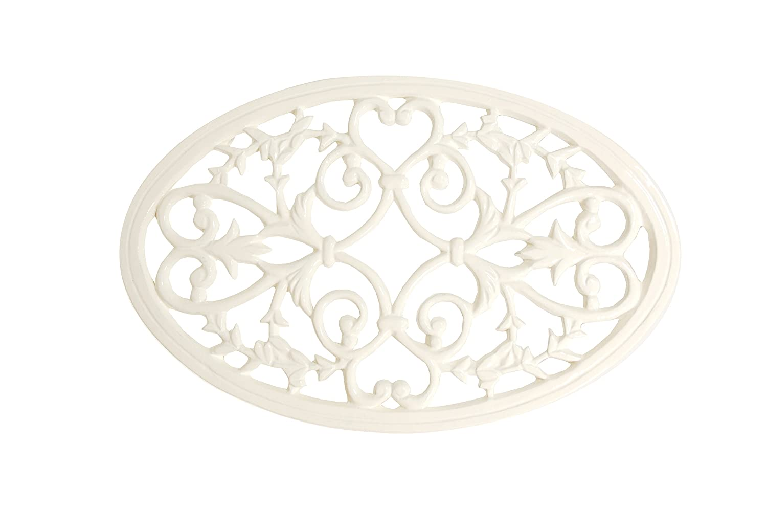 French Kitchen Collection Trivet Oval Large Ivory Kom Amsterdam 9232