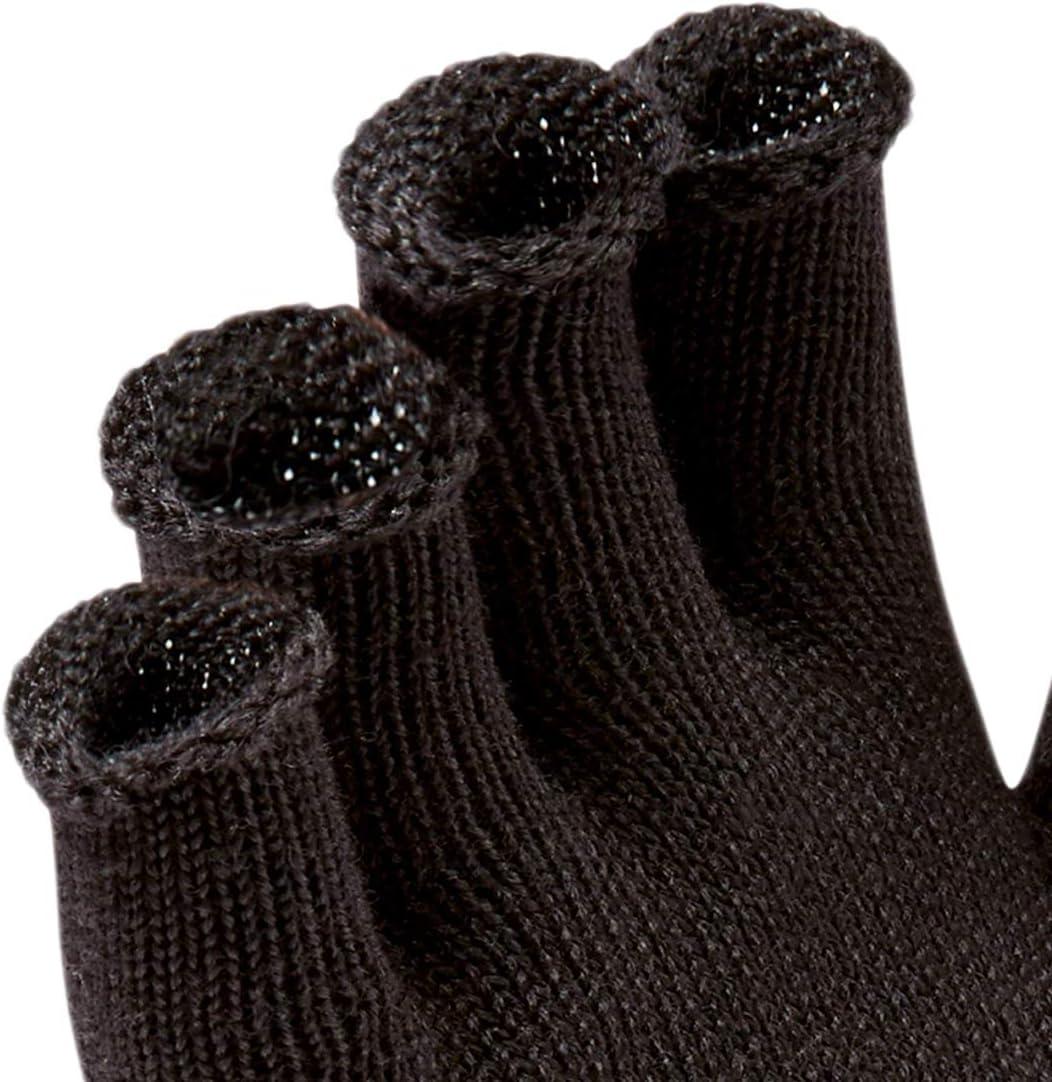 SEALSKINZ Unisex Merino Fingerless Glove Liner Black,