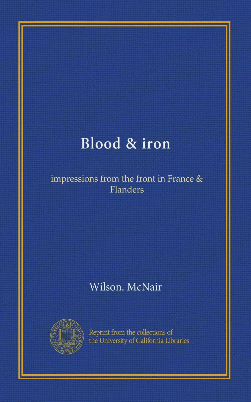 Blood & iron: impressions from the front in France & Flanders PDF