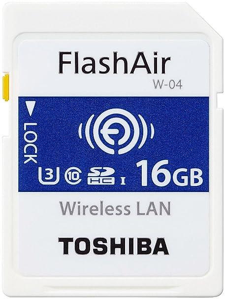Toshiba FlashAir W-04 - Tarjeta de Memoria SDHC de 16 GB ...