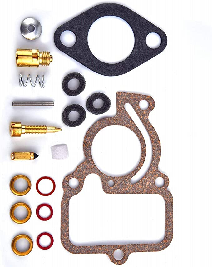 Tuzliufi Replace Carb Carburetor Rebuild Repair Kit International Farmall H HV I4 O4 W4 Tractor 1703-006145108 50981 45108D 45108DA 45108DB 45108DC 45108DD 45108DE 50981D 50981DB 50981DC 50981DD Z285