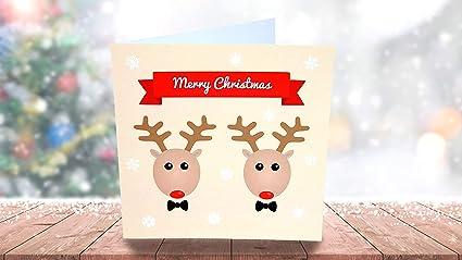 Gay Couple de rennes – même sexe carte de Noël – Gay carte de Noël