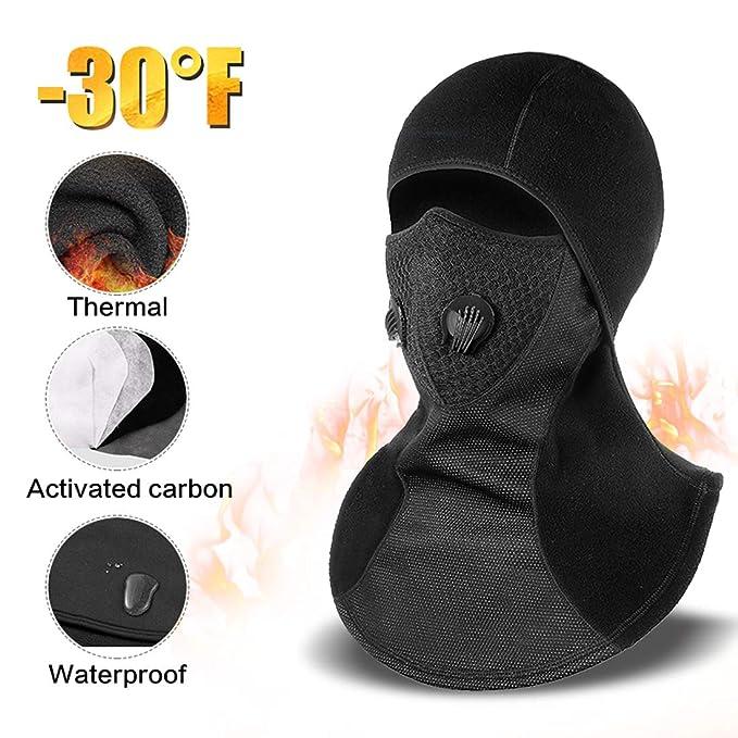 fcbd795fcec Balaclava Face Mask Winter Balaclava Windproof with Breathable Vents for  Skiing (1 Balaclava)