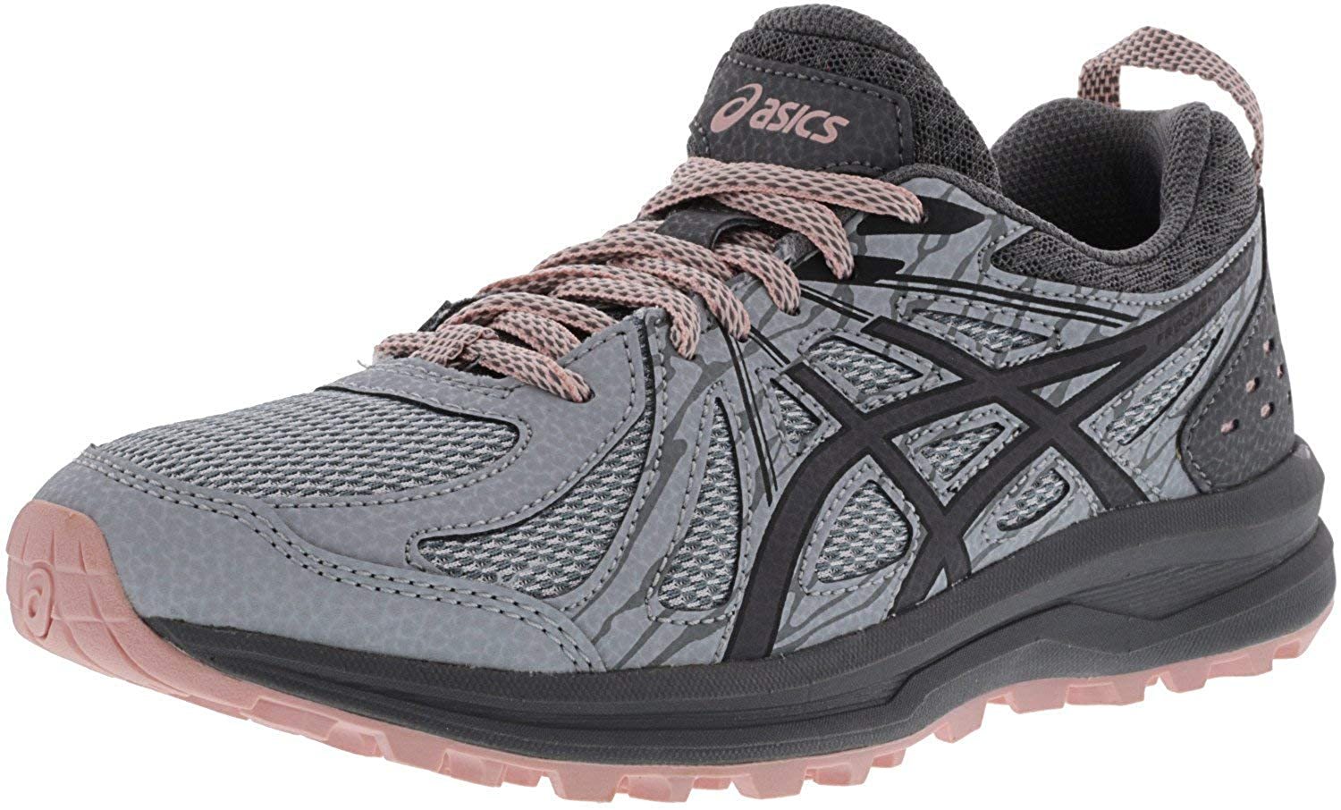 - ASICS Wohommes Frequent Trail Mid gris Carbon Ankle-High Running chaussures - 11W
