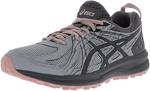 Asics Synthetic Frequent Trail Mid Greycarbon Ankle high