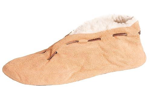 Brubaker - Pantuflas de cuero hombre, color marrón, talla 49