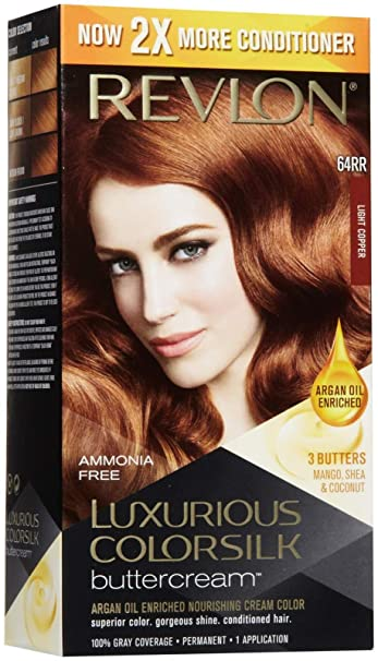 Revlon ColorSilk Luxurious Buttercream Hair Color   Light Copper   Oz