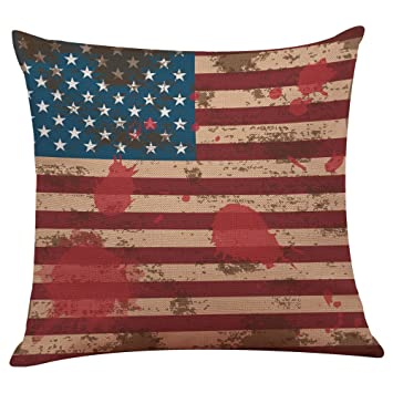 Magnificent Vovotrade Home Decor Ornate Sofa Waist Throw Cushion Cover Pillow Case Independence Day American Flag Patriotic Design July 4Th 45Cmx45Cm J Gmtry Best Dining Table And Chair Ideas Images Gmtryco