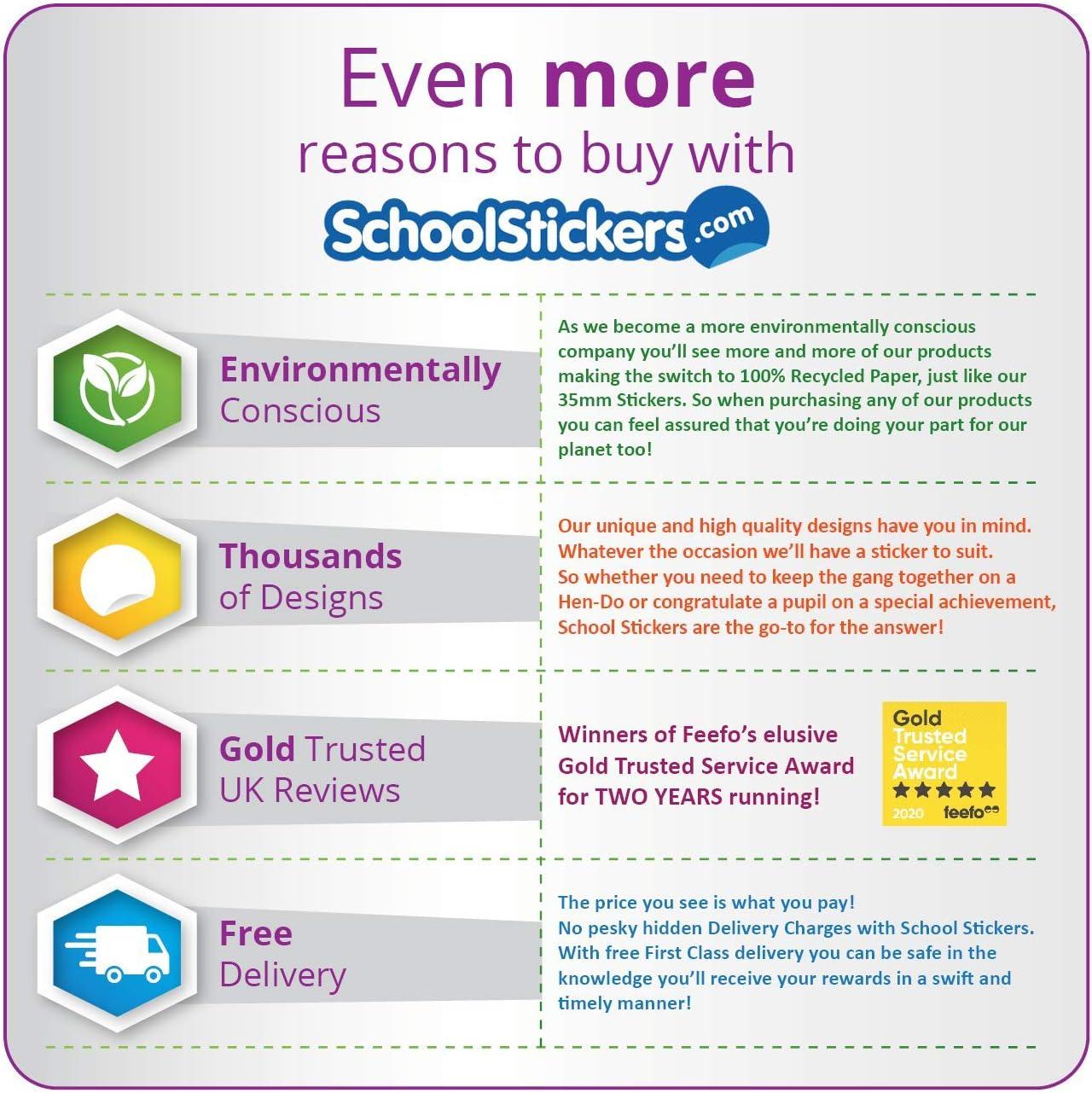 School Stickers Head Teacher Star Sparkly Stickers