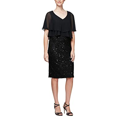 979f9452c3 Alex Evenings Women s Pop Over Cape Cover Up Shawl Dress at Amazon ...
