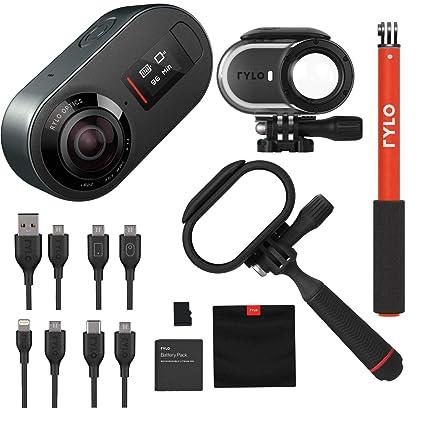 Amazon.com: Rylo - Cámara de vídeo de 5,8 K, 360 grados, con ...