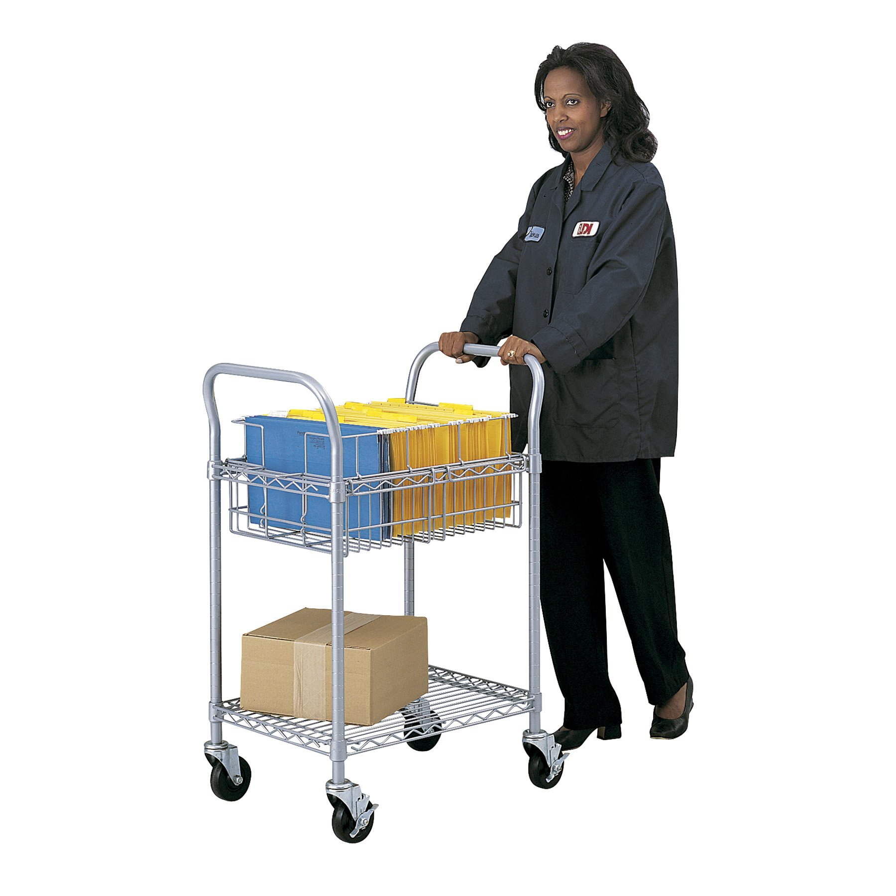 Safco Products 5235GR Wire Mail Cart, Legal Size, Gray by Safco Products