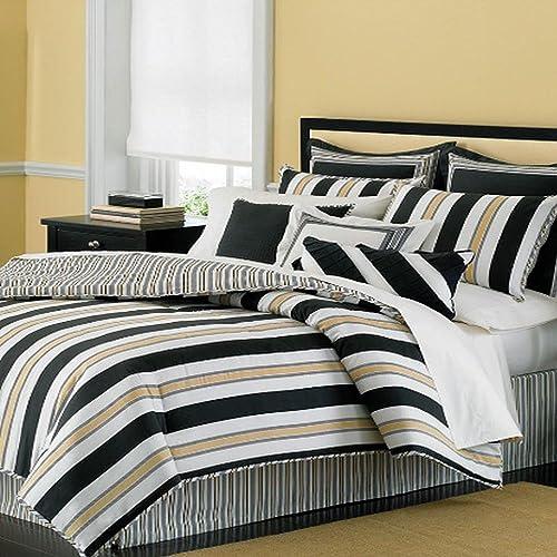 Martha Stewart Collection Bedding, Tuxedo Stripe 3 Piece Decorative Pillow Set