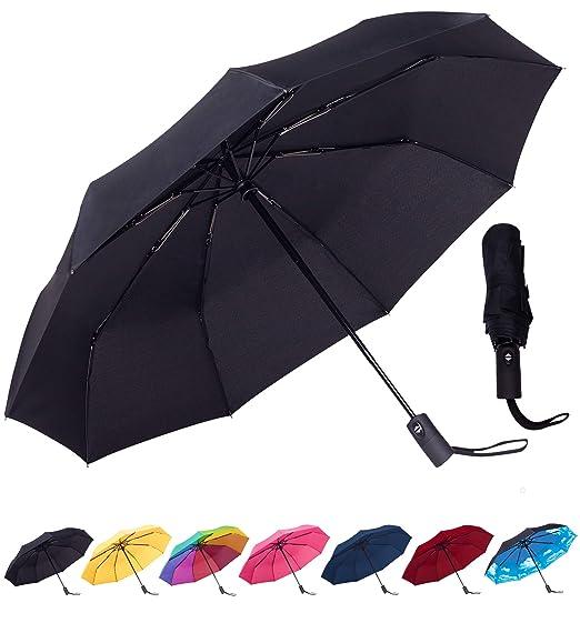 e2db695c2e89 Rain-Mate Compact Travel Umbrella - Windproof, Reinforced Canopy, Ergonomic  Handle, Auto Open/Close Multiple Colors