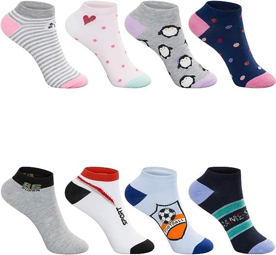 SG-WEAR 12 pares de calcetines para niños y niñas con alto ...