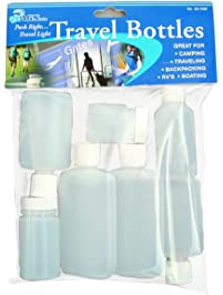 AGS Outdoor RX 8-Piece Airline Approved Travel Bottle Set (2 oz)