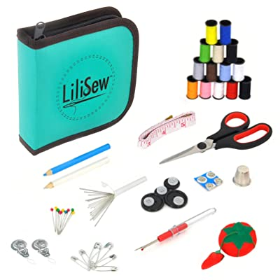 LiLiSew Hand Sewing Kit Compact with Notions,Supplies,Accessories