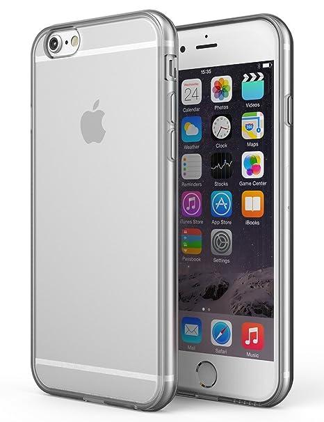 iPhone 6 / 6s Funda [Transparente Carcasa] Case Bumper Cover ...